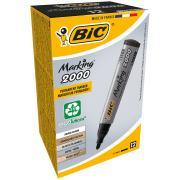 BIC Bullet Marker ECO 2000 Black Box 12
