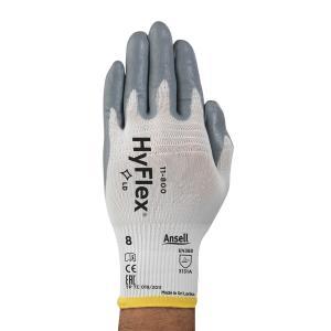 Ansell 11-800-8 Hyflex Foam Nitrile Powder Coated Glove Size 8 Pack 12