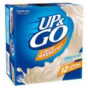 Sanitarium Up&Go Vanilla Ice 250ml Box 12