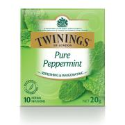 Twinings Pure Peppermint Enveloped Tea Bags Pack 10