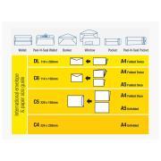 Tudor 140089 Envelopes Wallet Presseal 120X235mm White Box 500