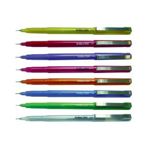 Artline 200 Fineline Pen 0.4mm Bright Assorted Box 12