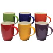 Connoisseur Mugs 370ml Assorted Colours Box 6