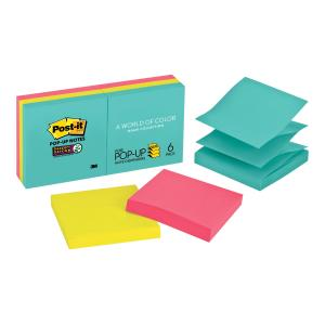 Post-It Super Sticky Notes Pop-Up Miami Collection 76 x 76mm Pack 6