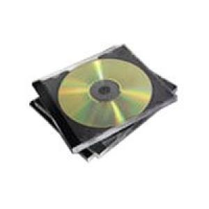 Fellowes CD Jewel Case Assorted Colours Pack 10 Image