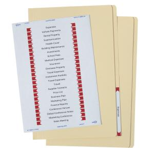 Avery Buff Manilla Folder with Labels - Foolscap - 355 x 241 mm - 20 Files