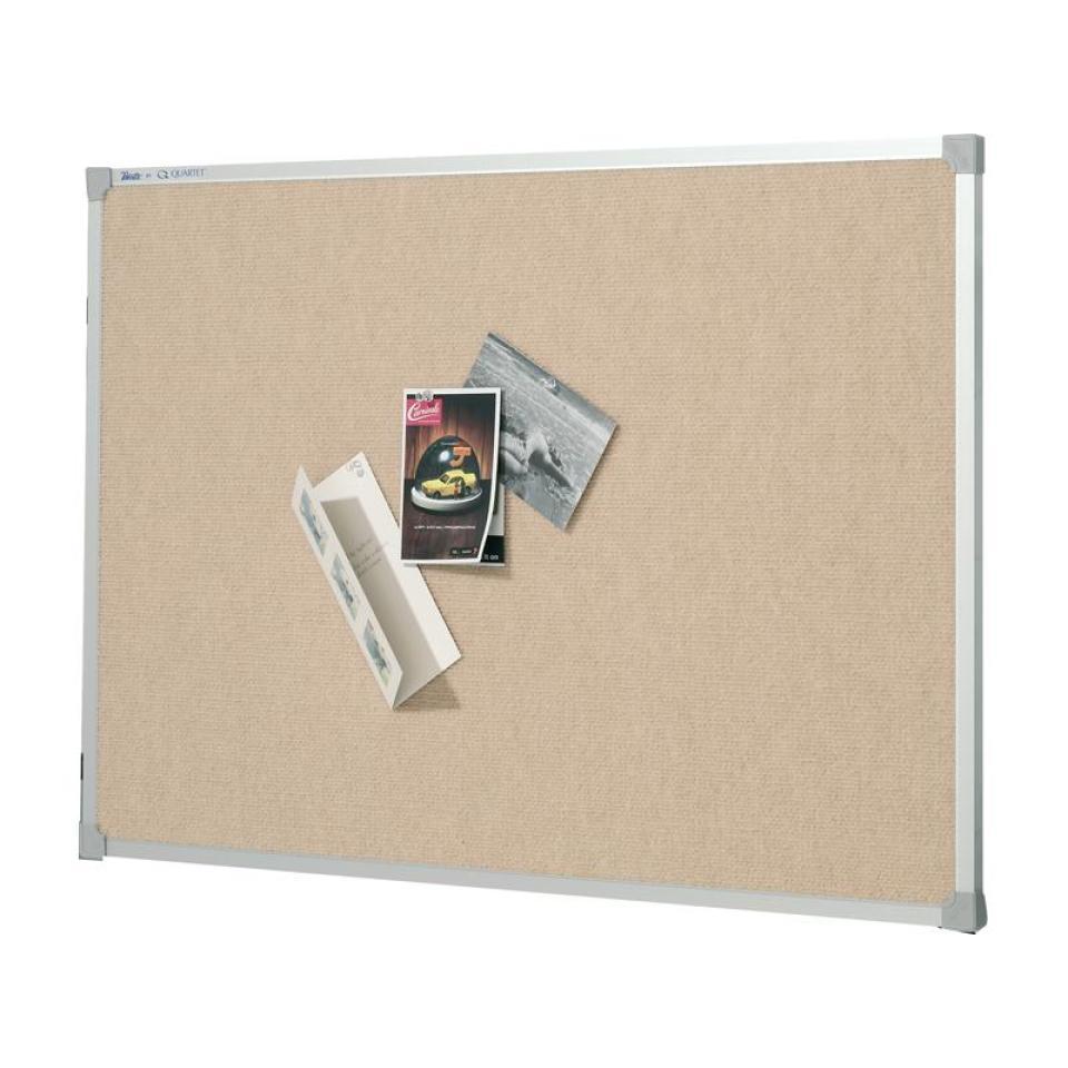 Quartet Penrite 1800 x 1200mm Fabric Bulletin Board Beige