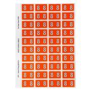 Avery Colour Coding Labels Numeric 8 Self Adhesive Orange Pack 240
