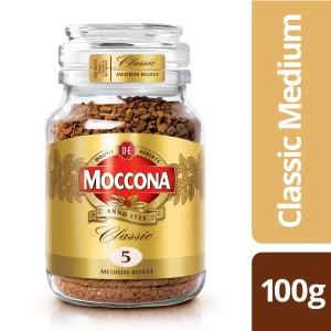 Moccona Classic Medium Roast Instant Coffee Jar 100g