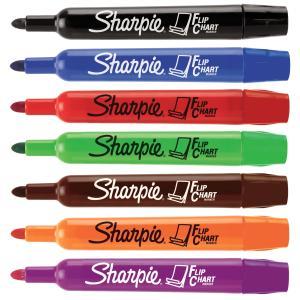 Sharpie flip chart marker bullet tip 3 0mm assorted colours pack 8