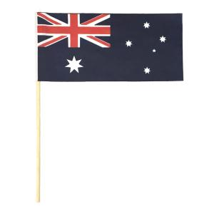 Australian Handwaver Fabric Flag 300x150mm With Timber Stick Pack 25