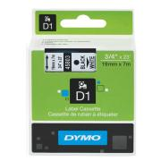 Dymo D1 Label Printer Tape 19mm x 7m Black On White