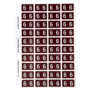 Avery Colour Coding Labels Numeric 6 Self Adhesive Brown Pack 240
