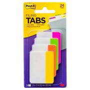 Post-It Filing Tabs 50.8 x 38.1mm Assorted Brights Pack 4