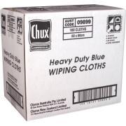 Chux 9899 Superwipes Heavy Duty 60cmx60cm Blue Carton 100