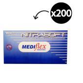 Mediflex Nitrasoft Nitrile Gloves Powder Free Large Box 200