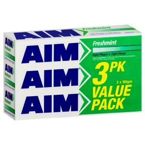 Aim Freshmint Toothpaste Regular 3x270g Value Pack
