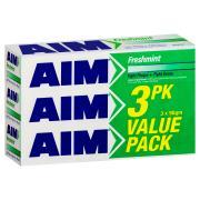 Aim Freshmint Toothpaste Regular 3x270g Value Pack