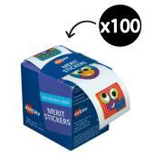 Avery Merit and Reward Stickers Googly Eyes 30mm Diameter Pack 100