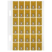 Avery x Top Tab Colour Coding Labels for Twin Tab Lateral Files - 20 x 30mm - Mustard - 150 Labels