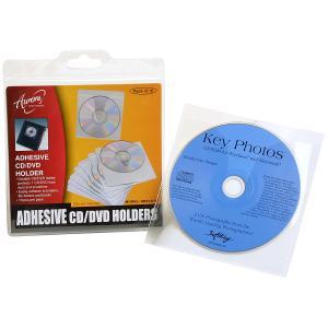 Cumberland Aurora Self-Adhesive CD Sleeves Clear Pack 10