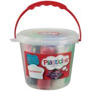 Colorific Plasticine Funtubulous 750gm Bucket With 7 Plastine 4 Moulds