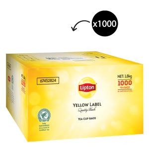 Lipton Yellow Label Quality Black Tagged Tea Bags Carton 1000