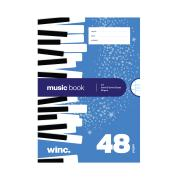 Winc Exercise Book A4 Music 8mm & 12mm Staves 56gsm 48 Pages