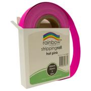 Rainbow Ribbed Stripping Roll 25mmx30m Hot Pink