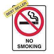 No Smoking Sign Metal 450x300