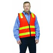 Guardian Safety Vest VIC Roads Fluoro Red Reflective Tape