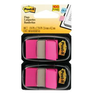Post-It Flags 680-Bp2 25.4 X 43.2mm Bright Pink