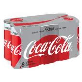 Diet Coca-Cola Slim Line Can 200ml Pack 8