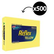 Reflex Coloured Copy Paper A4 80gsm Yellow Ream 500