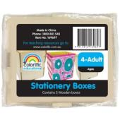 Colorific Wooden Stationery Boxes Pack Of 5