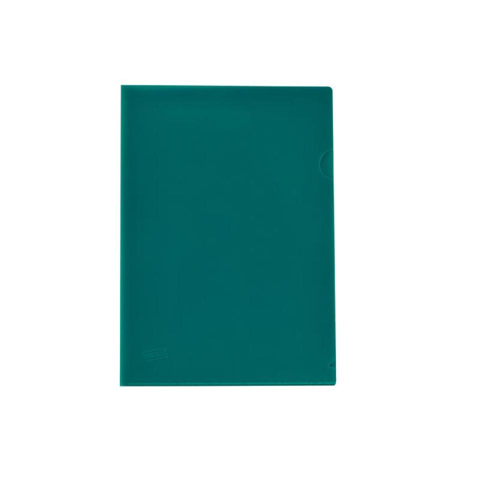 Staples Letter File A4 Open 2 Sides Executive Green Pack 25