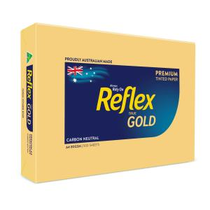 Reflex Colours Copy Paper A4 Gold 500 Sheet
