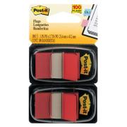 Post-It Flags 25.4 x 43.2mm Red Pack 2