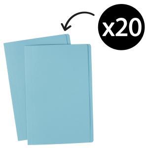 Avery Light Blue Manilla Folder - Foolscap - 355 x 241 mm - 20 Files