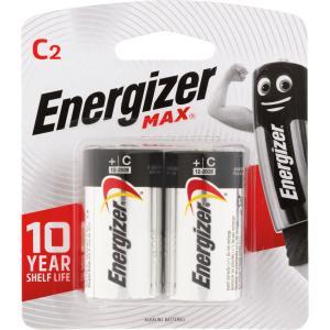 Energizer Max 1.5V Alkaline C Battery Pack 2