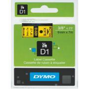 Dymo D1 Label Printer Tape 9mm x 7m Black On Yellow