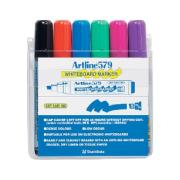 Artline 579 Whiteboard Marker Chisel Set 6