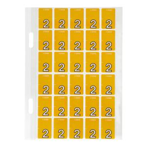 Avery 2 Top Tab Colour Coding Labels for Twin Tab Lateral Files - 20 x 30mm - Orange - 150 Labels