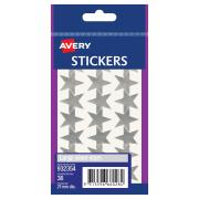 Avery Silver Star Stickers - 15mm diameter - 36 Labels