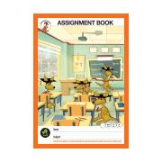 Clever Kangaroo Assignment Bk A4 80gsm 64pg 8mm Blue Lines Red Margin