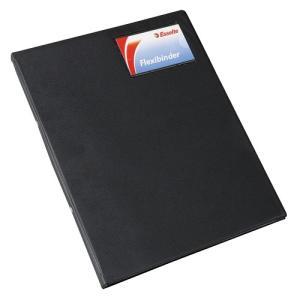 Esselte 013949Blk Binder Flexi PVC A4 2 O Ring 20mm Black
