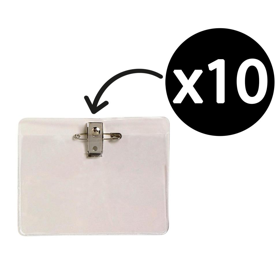 Rexel Id Large Card Pin And Clip Holder/Pouch 113 x 84mm Clear Pack 10