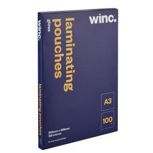 Winc A3 125 Micron Gloss Laminating Pouches - 100-Pack