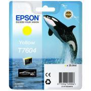 Epson T7604 Yellow Ink Cartridge - C13T760400
