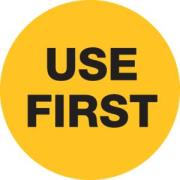 FFSA Removable Circle Use First Label 80mm Roll of 500